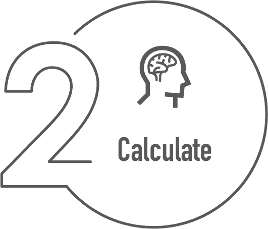 Number 2 Calculate Info graphic